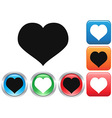 Love buttons set vector