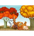 Animals spring time vector