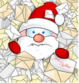 Santa claus on mail background vector