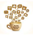 Social media concept with coffee mug vector