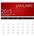 Simple 2015 calendar january vector