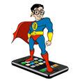 Super nerd on iphone vector