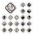 Simple business and office tools icons vector
