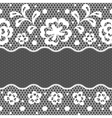 Lace fabric seamless border with abstact flowers vector