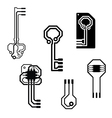 Electronic circuit keys vector