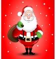 Smiling cartoon santa claus greeting vector