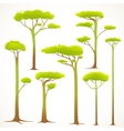 Cartoon trees collection drawing vector