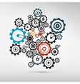 Abstract cogs - gears on grey background vector