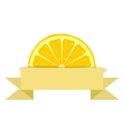 Lemon slice with paper banner vector