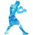 Boxing arrow background vector