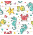 Pattern of sea creatures vector