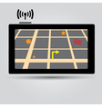 Digital gps navigation icon eps10 vector