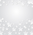 Star on a gray background abstract light vector