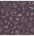 Romantic and love pattern vector
