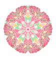Ornamental round lace pattern circle background vector