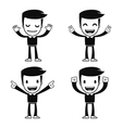 Funny cartoon helper man vector