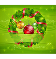 Christmas ornament holy wreath 10 v vector