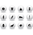 Web buttons hawaii icons vector