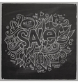 Sale hand lettering on chalkboard vector