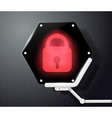 Digital lock icon on the screen in the form of vector