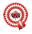 National flag badge ca vector