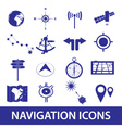 Navigation icons set eps10 vector
