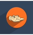 Male shoes flat doodle icon vector