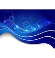 Blue cable line - futuristic background vector