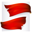 Red waving ribbon banner drawing vector