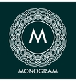 Monogram design template with letters vector