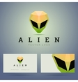 Logo and business card template with polygonal vector