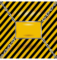 Grunge black and yellow industrial blank sign vector