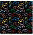 Seamless sun glasses accessories pattern vector
