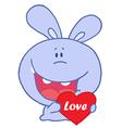 Holiday rabbit cartoon vector