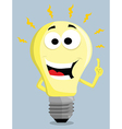 Cartoon light bulb vector