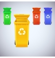 Recycle bins with recycle sign vector