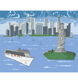New york doodles vector