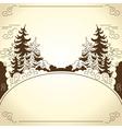 Landscape frame vector