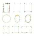 Hand drawn frames set 3 vector