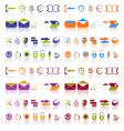 Complete set of icons vector