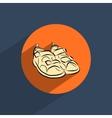 Sandals shoes flat doodle icon vector
