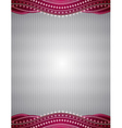 Silver background with decorative ornaments vector