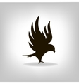 Black eagle with outstretched wings vector
