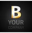 Abstract logo letter b vector