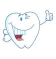 Happy smiling tooth cartoon mascot character vector