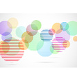 Retro circle elements colorful bright background vector