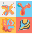 Pattern art colorful set vector