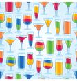 Seamless tropical drinks vector
