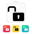Padlock open icon vector