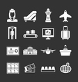 Set icons of airport vector
